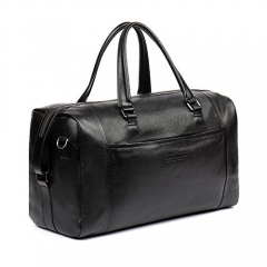 BOSTANTEN Genuine Leather Duffel Travel Weekender Overnight Bag Gym Sports Tote Duffle Bags for Men & Women