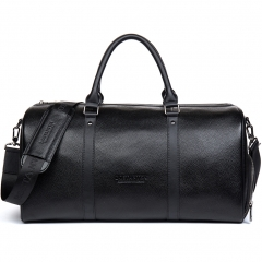 BOSTANTEN Genuine Leather Duffel Travel Weekender Overnight Bag Gym Sports Foldable Duffle Bags For Men & Women