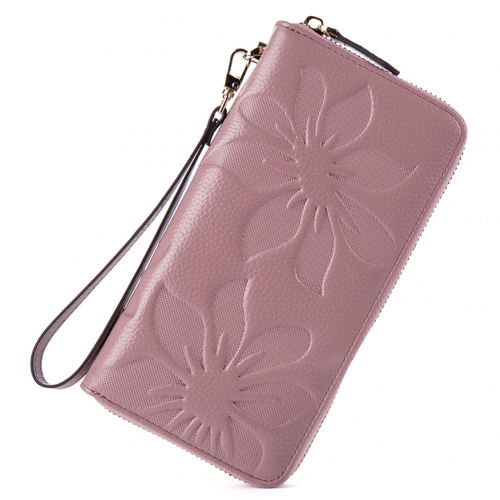 BOSTANTEN Womens Leather Wallets Credit Card Cash Holder Large Capacity Clutch Wristlet