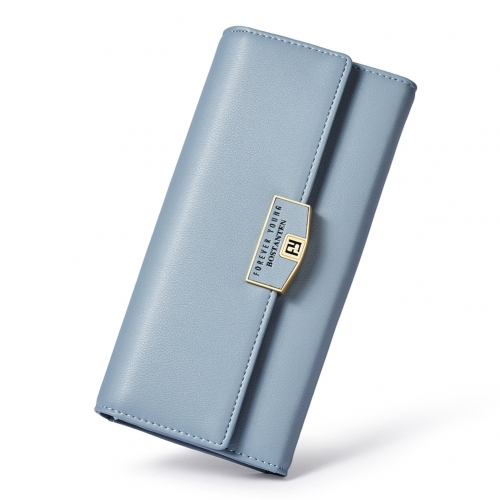 BOSTANTEN Wallet for Women Soft Leather Designer Trifold Multi Card Organizer Long Clutch