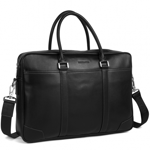 BOSTANTEN Leather Briefcase Messenger Business Bags Laptop Handbag for Men