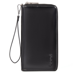 BOSTANTEN Leather Wallets for Women RFID Blocking Zip Around Credit Card Holder Phone Clutch Wristlet