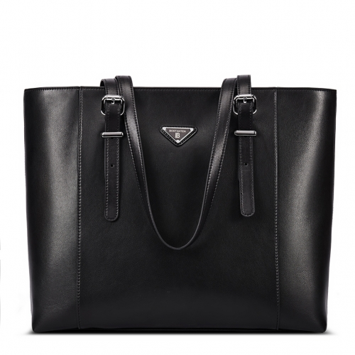 "BOSTANTEN Women Laptop Briefcase Leather Tote Handbags 15"" Computer Shoulder Bags"