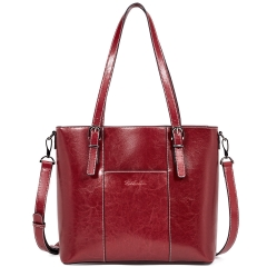 BOSTANTEN Women Leather Handbags Vintage Tote Shoulder Bag Top Handle Cross-body Purses