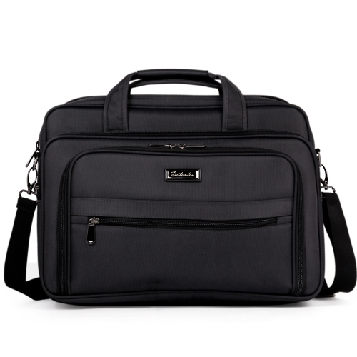 BOSTANTEN Briefcase for Men Laptop Bag 17 inch Water-resistant Lightweight Shoulder Messenger Bags Black