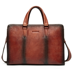 BOSTANTEN Leather Briefcase Vintage Shoulder Laptop Cross Body Business Bag for Women & Men