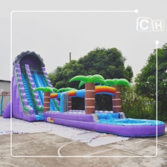 2018 newest popular inflatable waterslide from factory , Inflatable water slides for sale, giant blow up slip and slide