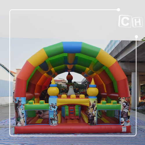 inflatable fun city with slide