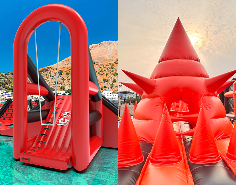 CH Inflatable is a leader in water parks and inflatable obstacles