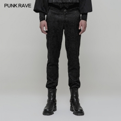 Punk Rave Gothic High Waist Jacquard Trousers