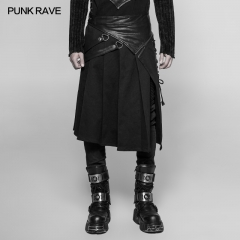 Gothic  Punk Removable Half Skirt