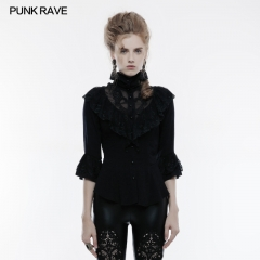 Gothic phoenix tail three quarter sleeve shirt
