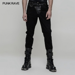 Black Steampunk  Handsome Trousers