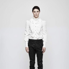 White Gothic Handsome Blouse for Men