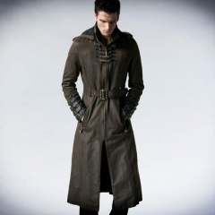 Punk Men Long Sleeve Coat