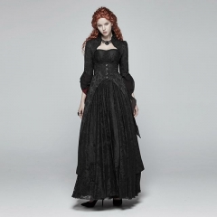 Gothic Vintage Court Long Coat | Punk Rave