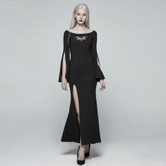 Black Gothic Sexy Bat Code Prom Dress | Punk Rave