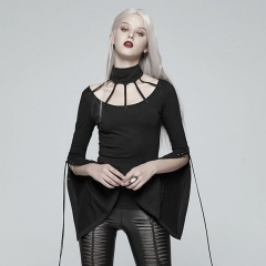 Goth Bat Messenger Knitted Blouse | Punk Rave