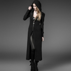 Black Gothic Long Witch Coat | Punk Rave