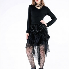 Gothic Punk Knitted Blouse with Wings on Back | Dark in Love