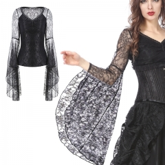 Gothic Lace Blouse with Big Sleeves | Dark in Love