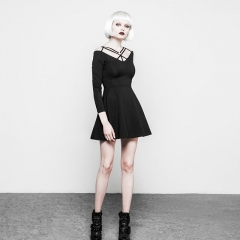 Black Gothic Strapless Dress | Punk Rave