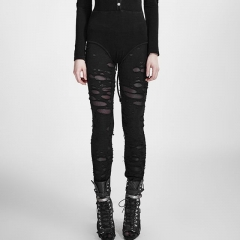 Gothic Broken Mesh Leggings | Punk Rave