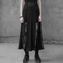Black Gothic Sexy Lace Skirt | Punk Rave