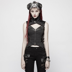 Black Punk Warrior Vest | Punk Rave