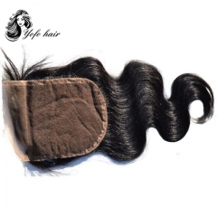 "YOFO Brazilian  Virgin  Lace Closure Hair Body Wave 100% Human Hair Lace Closure 4""X 4"" Free Part"