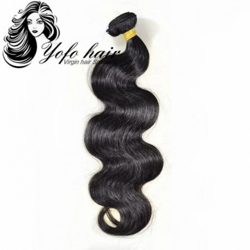 Free Shipping YOFO HAIR 10A 3 Bundles Brazilian Virgin Hair Body Wave 100% Unprocessed Human Hair Extension Natural Color