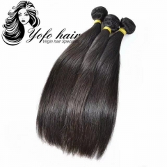 "YOFO HAIR 10A 3 bundles Brazilian Straight Virgin Hair 8""-28"" Natural Color 100% Unprocessed Human Hair Extension"