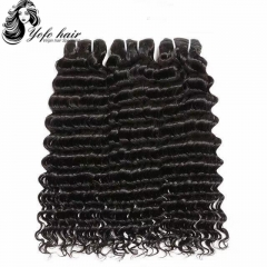 "Mixed lot 3pcs12""-28"" Deep curly Brazilian Virgin Human Hair Extension 10A Virgin Hair Weave wholesale"
