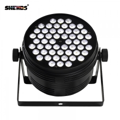 Aluminum Alloy Black LED Par 54x4W Cool Warm Power Con Plug DMX 512 Stage Effect Lighting For Disco DJ Party Free Shipping