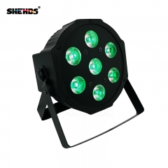 LED Flat Par 7x9W RGB Lighting DMX512 For DJ Stage Lightings Disco