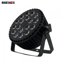 2pcs/lot LED Par Can 18x12W RGBW 4in1 LED Flat PAR DMX512 for Discos Music Stage Effect Disco Lamp stage light