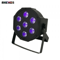 LED Flat Par 7x3W Ultraviole Color Stage Lighting Business Lights High Power Professional For Party KTV Disco DJ Show