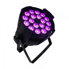 Aluminum alloy LED Par 18x18W RGBWA+UV Lighting LED Par Can Par led spotlight dj projector wash lighting stage lighting
