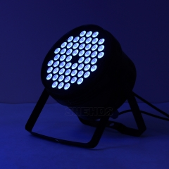 Aluminum alloy LED Par  54x3W Violet Lighting With DMX512 for Disco DJ Party Decoration Stage Lighting