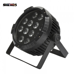 Waterproof LED Flat Par 12x12W RGBW  Lighting With DMX512 for Disco DJ Party Decoration Stage Lighting