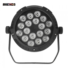 Waterproof LED Flat Par 18x12W RGBW  Lighting With DMX512 for Disco DJ Party Decoration Stage Lighting