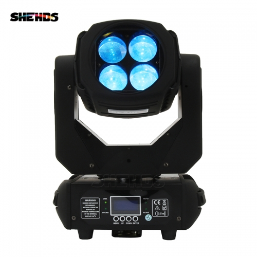 LED Super Beam 4x25W RGBW Moving Head Lighting