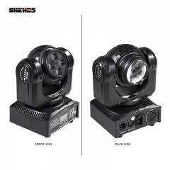 LED Beam Wash Double Sided 4x10W+1x10W RGBW 15/21 Channel DMX 512 Rotating Moving Head Stage Lighting