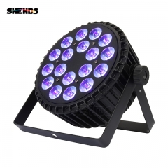 Aluminum Alloy LED Flat Par18x3WOnly Violet DMX512 Stage Effect Lighting perfect For DJ Disco Home Party And Wedding Decoration