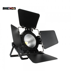 SHEHDS Aluminum alloy LED Par COB 100W  Cool+ Warm White/Warm White / Cool White with Barn Doors Lighting