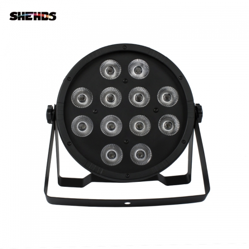 SHEHDS LED Flat Par 12x12W RGBW DMX512 Stage Effect Lighting For Home Party DJ Disco Party Christmas Decorations KTV Bar Party