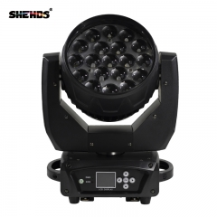 LED Moving Head 19x15W RGBW Wash/Zoom Stage Lights Professional DJ/Bar LED Stage Machine DMX512 LED Zoom Beam