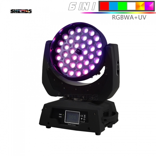 Good Quality 36x18W RGBWA UV 6in1/ 36x12 RGBW 4in1 Indoor LED Par Zoom Light Colorful Wash Zoom Lights