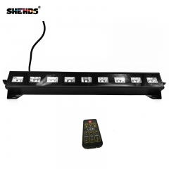 LED Wall Wash 9x3W UltraViolet Lighting Remote Control Led Stage Lamp For Disco DJ Home Party