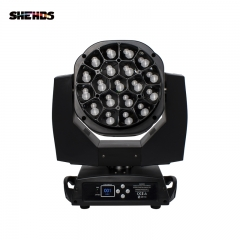 LED Beam + Cleaning Big Bee Eye 19x15W RGBW Moving Head Zoom Lighting